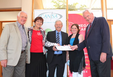89cf7421dc8 CANSA endorses Omega Caro-E Supplement. alt. INNOVATION  Representatives  from CPUT and the Cancer Association of South Africa hold an agreement of  ...