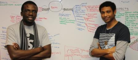 Web Team: Mr. Lovemore Nalube (left) and Mr. Ashley Jones (right)