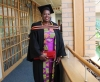 SEWING OFF: Jeanette Niyidufasha overcame great financial obstacles to obtain a Postgraduate Certificate in Education on 14 December.