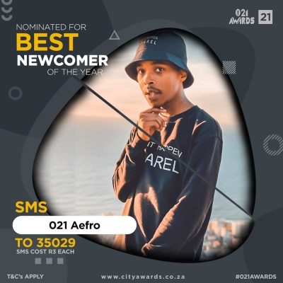 "MAKING A MARK: Operations Management student, Luzuko ""Aefro"" Fikile, has been nominated as the Best Newcomer for this year's City Awards for his contribution to the music industry."