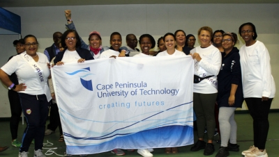 TEAMWORK: CPUT students and staff members participated in the event.