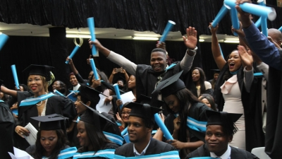 JUBILANT: The FNB Fund donation will see 106 CPUT students graduate with no student debt