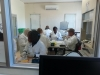 CREATING KNOWLEDGE: Staff and students working on samples for analysis at the unit in 2019.
