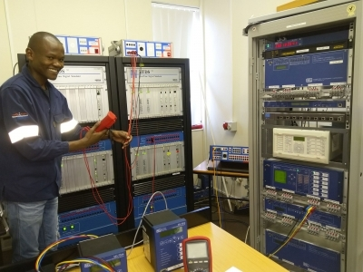 ENERGY MANAGEMENT: Sinawo Nomandela, a full-time Master's student at the Centre for Substation Automation and Energy Management Systems, works on the real-time implementation of the Smart Grid system developed in his thesis.