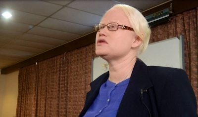 ADVOCATE: Dellicia De Vos shares her story in the documentary As We See: Education and Albinism