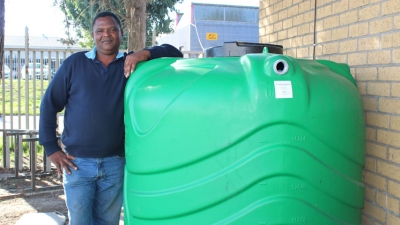 WATERWISE: Stanton Abels came up with a plan to save water by using treated effluent water to flush the toilets used by 30 staff members.
