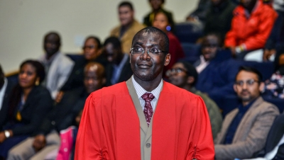 RESEARCH EXCELLENCE: Prof Tunde Ojumu recently delivered his inaugural professorial lecture.