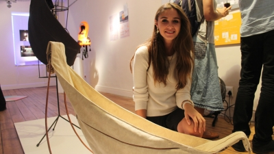 BIG IDEAS: Chanel Oosthuizen's Knus baby hammock is one of the design's on display at the exhibition