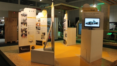 STAND A CHANCE: CPUT always stands out at Design Indaba. The 2014 stand (pictured) was interactive and based on our World Design Capital entries