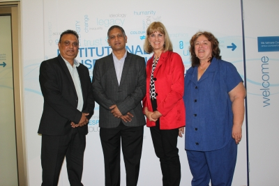 TOP OF THE RANGE: Professor Rishidaw Balkaran, DVC: Teaching and Learning, Norman Ronald, Acting Director: Quality Assurance at the Durban University of Technology, Fundani's Marianne Bester and Luclaire Airey, Director: Quality Management, are members of the newly-launched CPUT Qualifications Evaluation Committee.