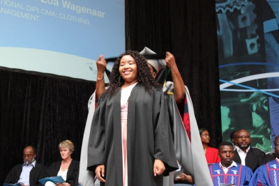 DETERMINATION: Enthusiastic Abongile Vundle graduated with a Diploma in Clothing Management despite going through numerous medical procedures which derailed her academic progress.