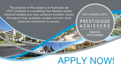 OPPORTUNITY: Postgraduate students can apply for the Award