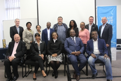FACT FINDING: Board members of the South African National Space Agency recently visited the CPUT space engineering programme and were welcomed by the university's management.