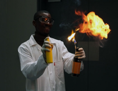 FIRE ON ALL CYLINDERS: First Year Chemical Engineering Design Competition runner up successfully converted used cooking oil to biodiesel and achieved a 100% conversion.