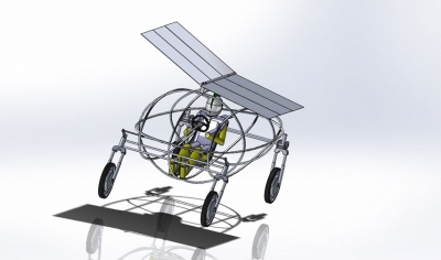 CAD: A computer rendering of the CPUT Solar Flyer.
