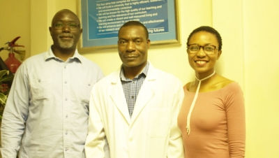 PRESERVING HERBAL KNOWLEDGE: Prof Learnmore Kambizi, a lecturer in the Department of Horticultural Sciences (centre) and his doctoral students, Steven Mapfumo and Sibusiso Xego, are conducting research that will improve the practice of traditional medicine