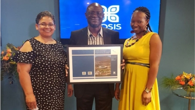 PATHFINDERS: Dr Twum-Darko received the recognition on behalf of the International Conference on Business and Management Dynamics team made up of the Conference Administrator Linda Julie (left), and, Conference Organiser and Co-editor, Mamorena Matsoso (right)