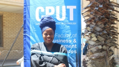 PRAYERS FULFILLED: Tourism Management graduate, Mbali Sibande, will be capped this week during one of the ceremonies to honour graduates from the Faculty of Business and Management Sciences.