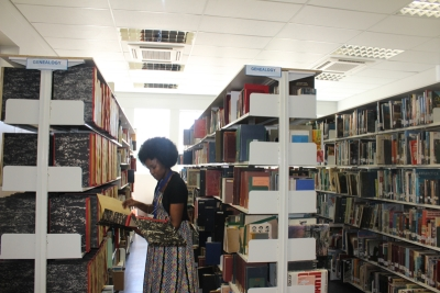 BEQUEST: Vuyiseka Mtshakazi, Assistant Librarian at the Wellington Campus Library, looks after the Genealogical Collection bequeathed to CPUT by the Genealogical Institute of South Africa.