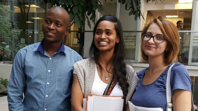 OPPORTUNITY: Nursing students Molefi Dexter Shebi, Shihaam Barnes and Philicia Bloom are benefiting from a new international project.