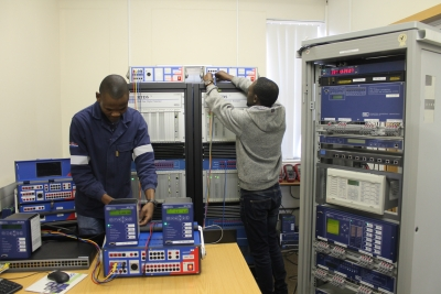 HANDS-ON TRAINING: Students who study under the supervision of the Centre for Substation Automation and Energy Management Systems have access to a state of the art substation automation laboratory.