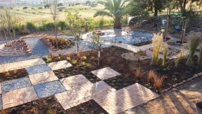GREEN FINGERS: Students transformed a section of vacant land at the Cape Town Campus into a beautiful garden