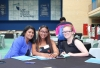 OPEN DIOLAGUE: Department: Biotechnology and Consumer Science Lecturer, Theloshni Govender in an open dialogue with students, Mikayla Siljeur and Jessica Martheze.