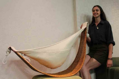 SLEEP EASY: A woven baby sling and hammock (pictured), is just one of the inventions that came out of last year's CPUT Idea-Create Student Innovation Competition