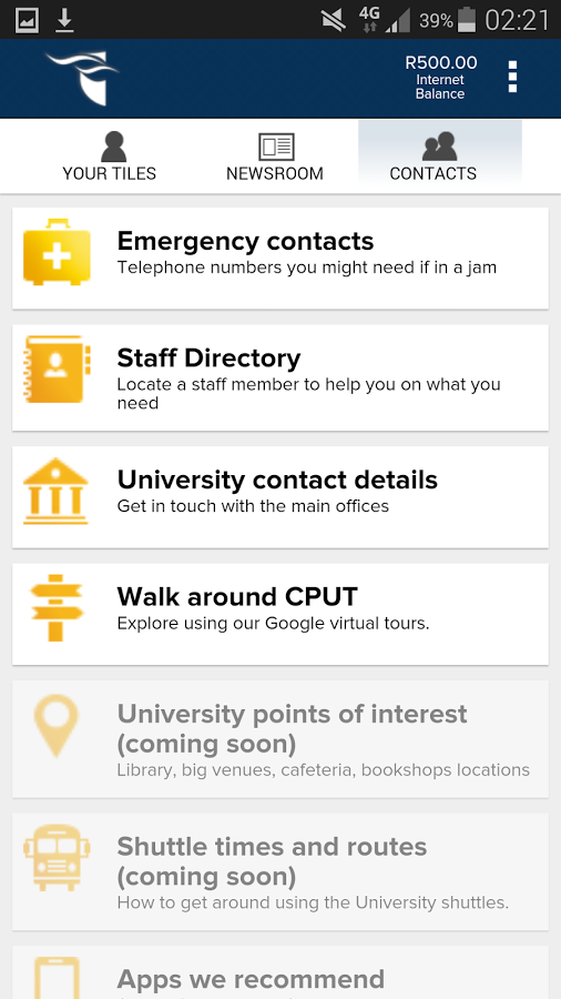 Free CPUT Mobile App - Blackberry, iPhone, Android and Windows phones