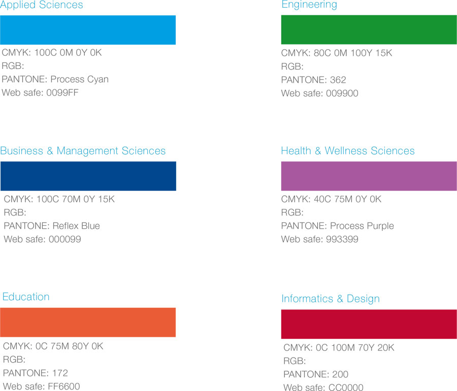 img branding faculties colour palette