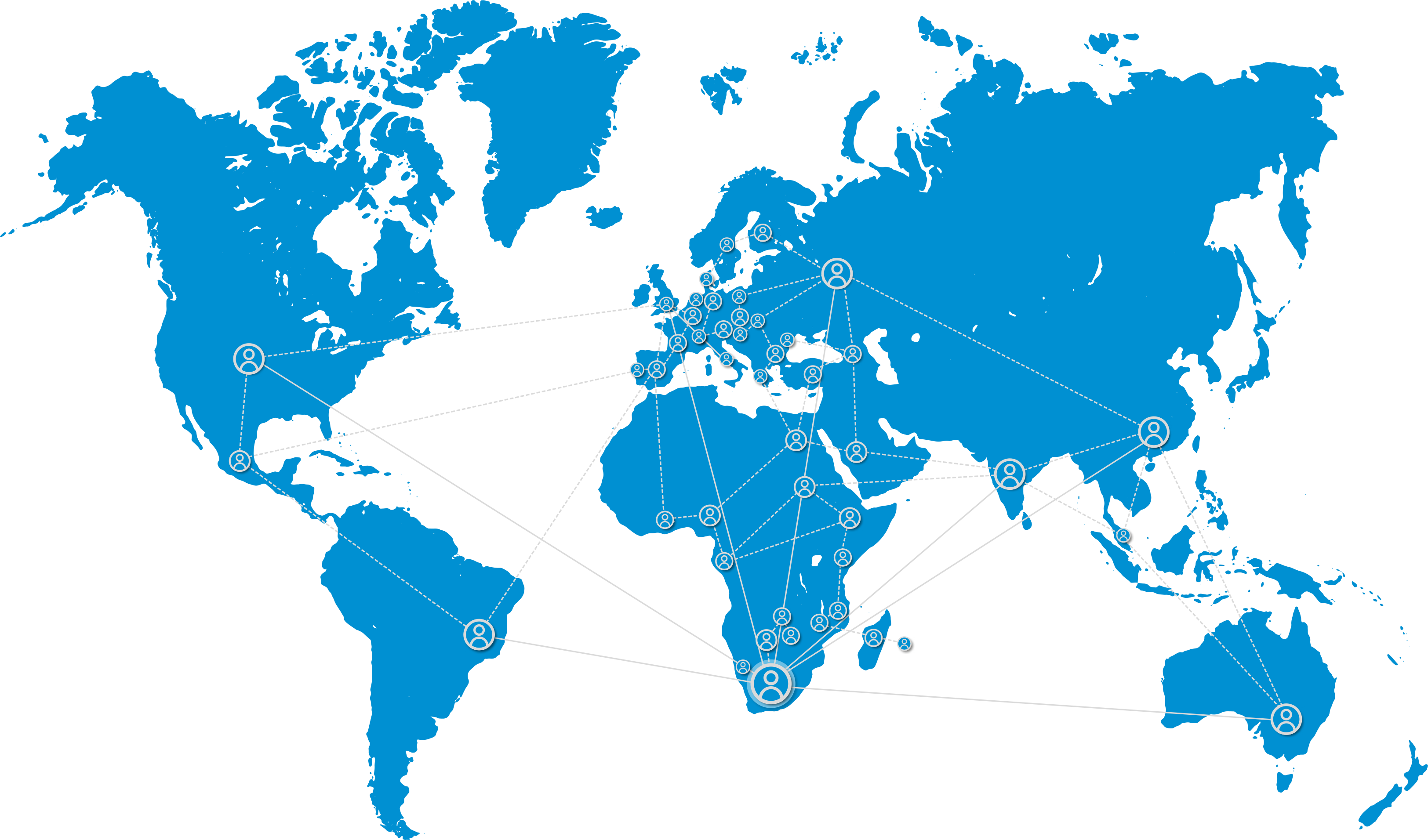 CPUT PARTNER COUNTRIES GLOBE